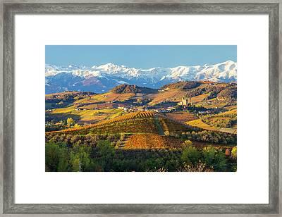Italy, Piedmont, Langhe, Cuneo Framed Print by Peter Adams