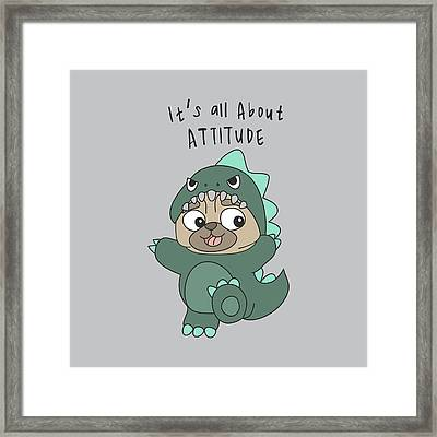 It's All About Attitude - Baby Room Nursery Art Poster Print Framed Print