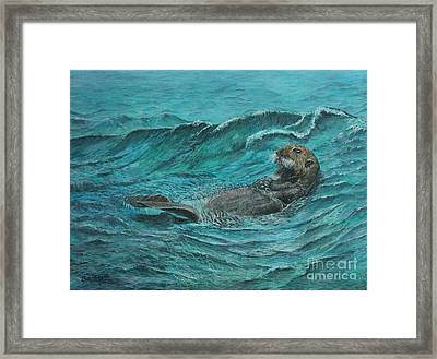 It's My Otter Day Off.....sea Otter Framed Print