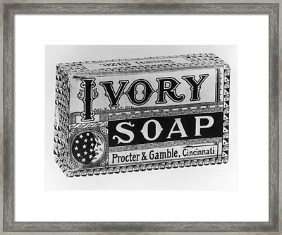 Ivory Soap Framed Print by Fotosearch