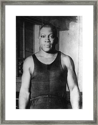 Jack Johnson Framed Print by Hulton Archive