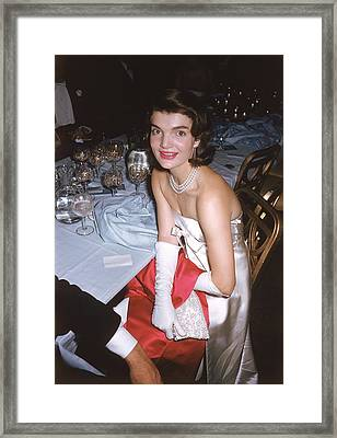 Jackie K Framed Print by Slim Aarons