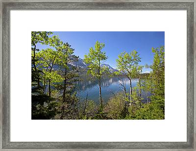 Framed Print featuring the photograph Jackson Lake by Sue Collura