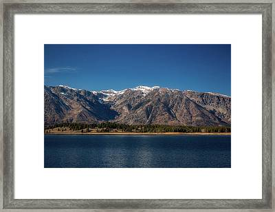 Framed Print featuring the photograph Jackson Lake Wyoming by Pete Federico