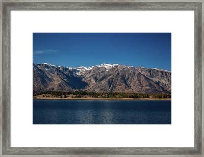 Jackson Lake Wyoming Framed Print