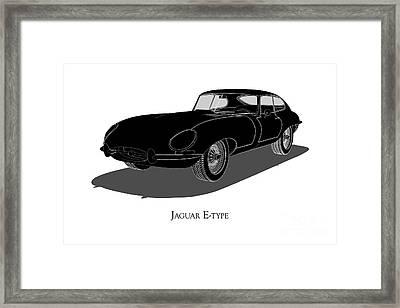 Jaguar E-type - Front View Framed Print