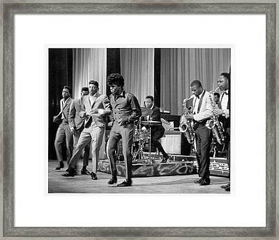 James Brown And Famous Flames At The Framed Print by Michael Ochs Archives
