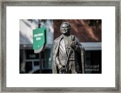 James Brown Statue - Augusta Ga Framed Print