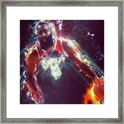 James Harden - 14 Framed Print by Andrea Mazzocchetti