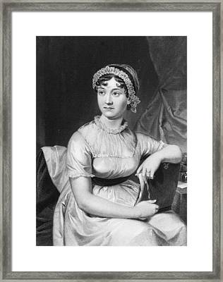 Jane Austen Framed Print by Hulton Archive