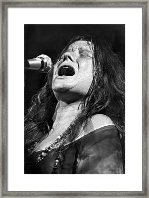 Janis Joplin Singing Framed Print by Bettmann