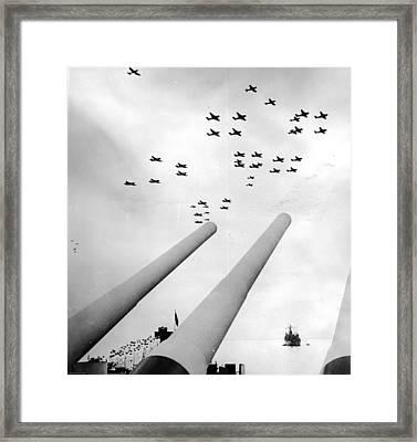 Japan Surrenders Framed Print by Three Lions