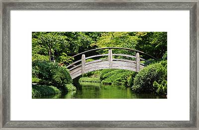 Framed Print featuring the photograph Japanese Garden Arch Bridge In Springtime by Debi Dalio