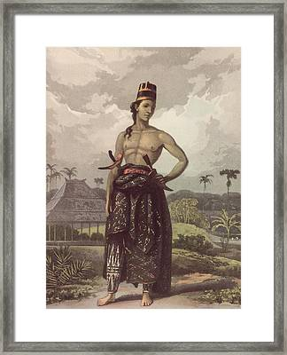 Javan Royalty Framed Print by Hulton Archive