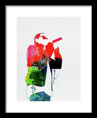 Jay Z Mixed Media Framed Prints