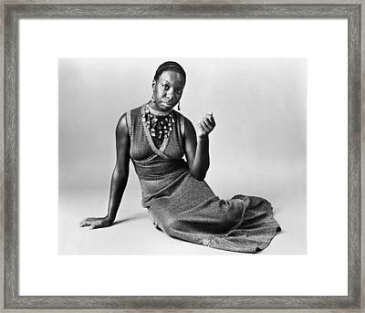 Jazz Singer Framed Print by Hulton Archive