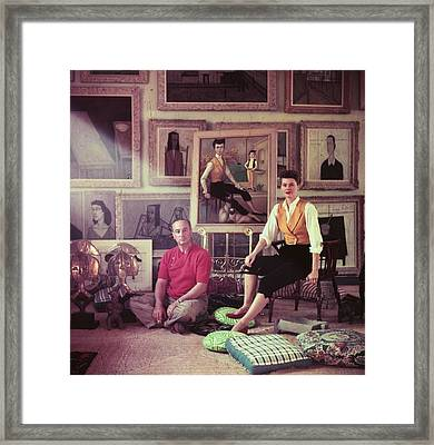 Jean Negulesco Framed Print by Slim Aarons