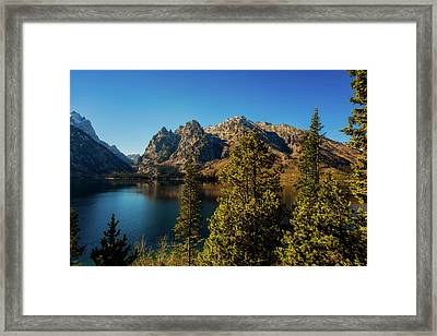 Framed Print featuring the photograph Jenny Lake by Pete Federico