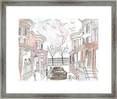 Jersey City Neighbourhood Framed Print by Remy Francis