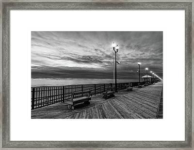 Jersey Shore In Winter Framed Print