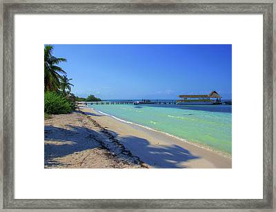 Jetty On Isla Contoy Framed Print