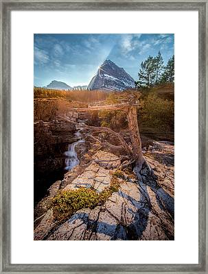 Framed Print featuring the photograph Jewel Of The Rockies / Many Glacier, Glacier National Park  by Nicholas Parker