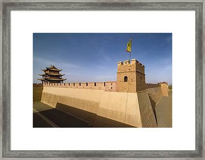 Jiayuguan Pass Western Great Wall Jiayuguan Gansu China Framed Print