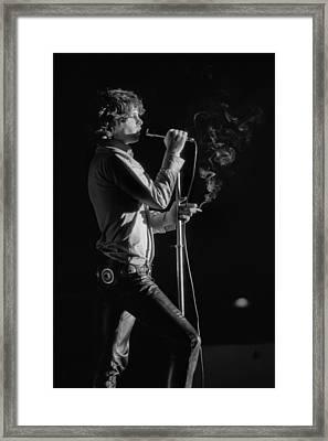 Jim Morrison Live Framed Print by Michael Ochs Archives