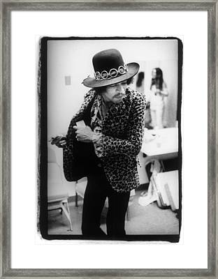 Jimi Hendrix Plays Anaheim Framed Print by Ed Caraeff/morgan Media