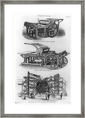 Jobbing Machine Framed Print by Hulton Archive