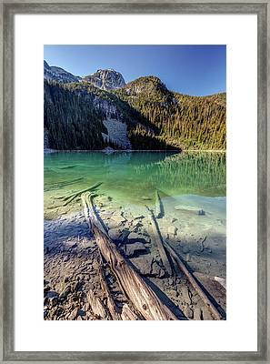Framed Print featuring the photograph Joffre Lake Middle On A Calm Sunny Morning by Pierre Leclerc Photography