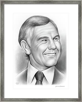 Johnny Carson 14sep18 Framed Print