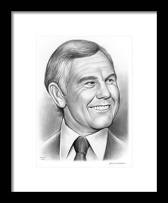 Johnny Carson Framed Prints