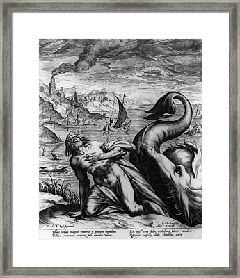 Jonah And Whale Framed Print by Hulton Archive