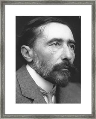 Joseph Conrad Framed Print by George C. Beresford
