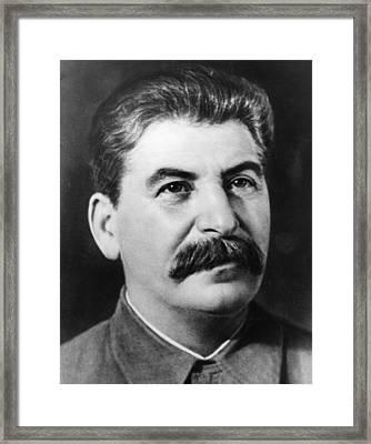 Joseph Stalin Framed Print by Fox Photos