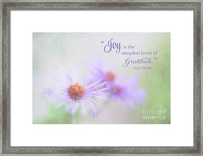 Joy And Gratitude For All Seasons Framed Print
