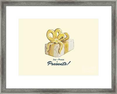 Joy, Peace And Presents Framed Print