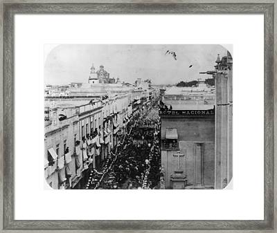 Juarez Enters Framed Print by Hulton Archive