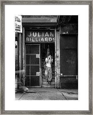 Julian Billiards Framed Print