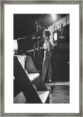 Julie Andrews Framed Print by Gordon Parks