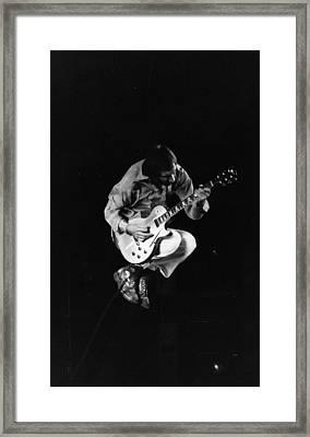 Jumping Townshend Framed Print