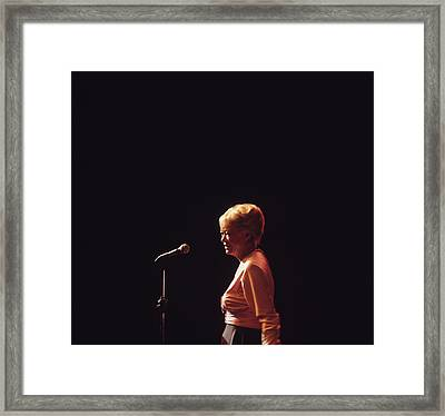 June Christy Performs At Newport Framed Print by David Redfern
