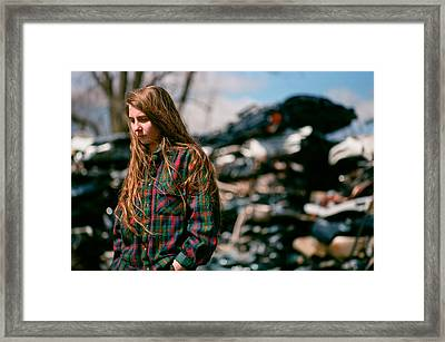 Framed Print featuring the photograph Junk by Carl Young