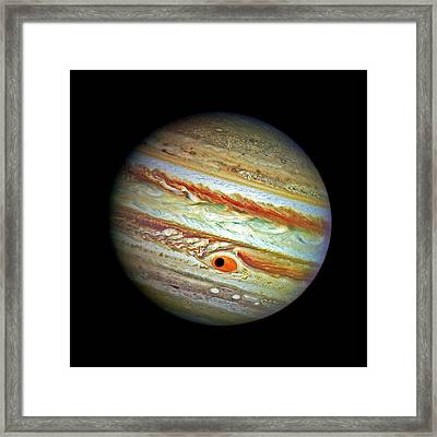 Framed Print featuring the photograph Jupiter And Ganymead Shadow Outer Space Image by Bill Swartwout Fine Art Photography
