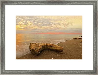 Jupiter Beach Framed Print