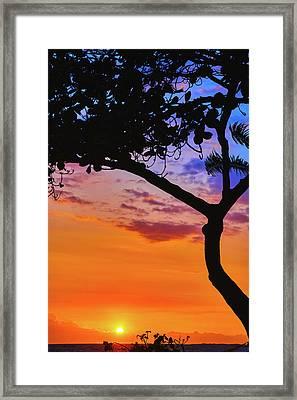 Just Another Kona Sunset Framed Print