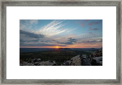 Framed Print featuring the photograph Just Before Sundown by Andreas Levi