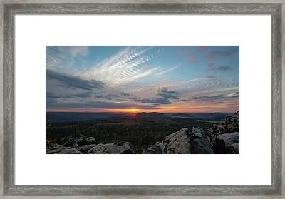 Just Before Sundown Framed Print
