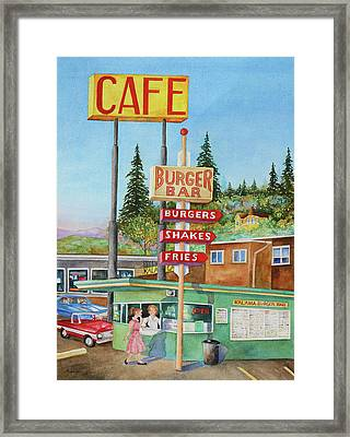 Kalama Burger Bar Framed Print by Marie Wise